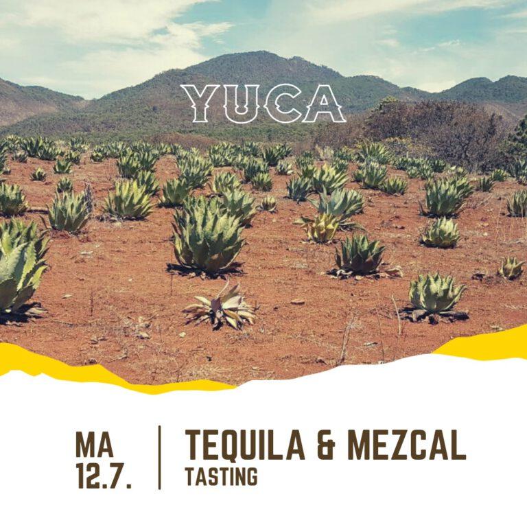 Tequila & Mezcal -tasting MA 12.7.2021 klo 18.00